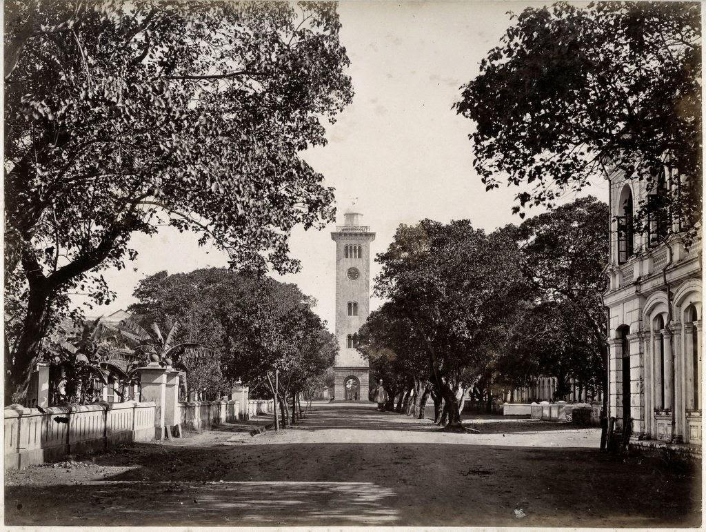 Clock Tower in Colombo, Ceylon (Sri Lanka) - c1890's