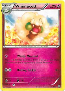 Whimsicott Ancient Origins Pokemon Card