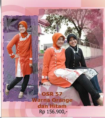Koleksi Osmoes Kaos Muslimah Trendy Orange Hitam