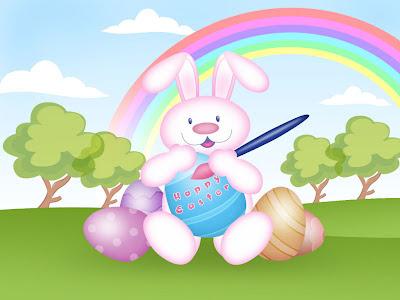 Zeko boja jaja - Uskrs slike čestitke