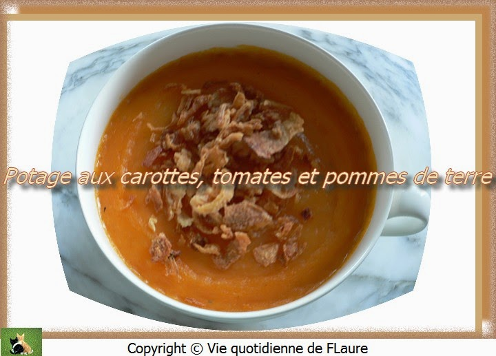 potage aux carottes tomates et pommes de terre. Black Bedroom Furniture Sets. Home Design Ideas