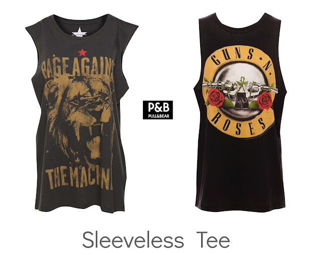 Camisetas Rock Pull&Bear