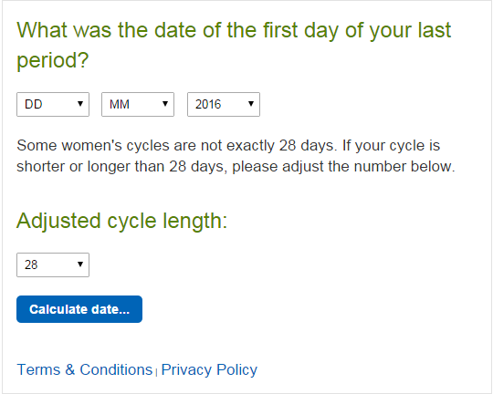 How many weeks pregnant am i - Pregnancy due date Calculator