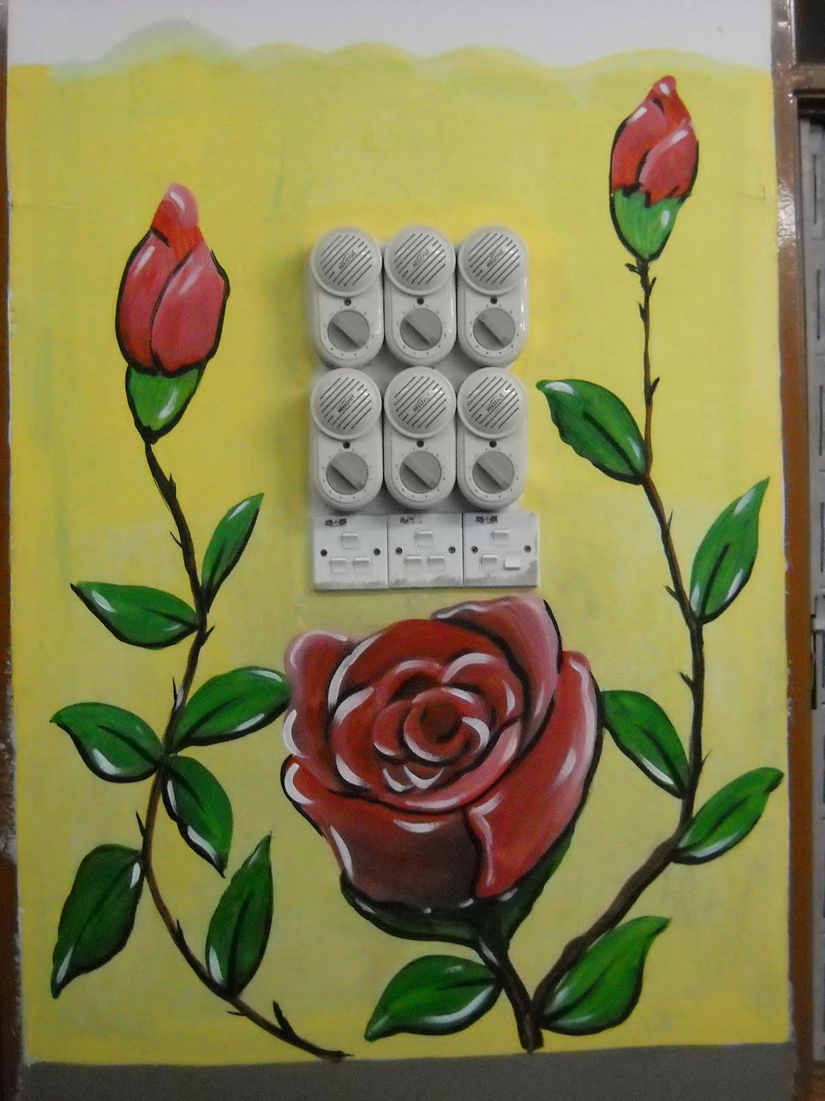 Pelukis mural shah alam lukisan bunga di kelas for Mural kartun