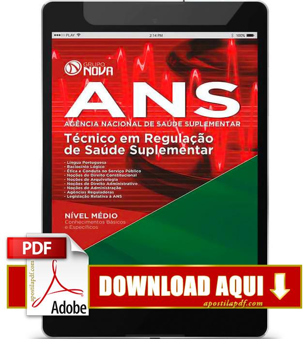 Apostila ANS 2015 Técnico em Regulação de Saúde Suplementar PDF Download