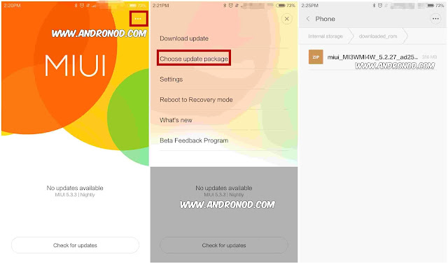 Cara Update/Downgrade Manual ROM MIUI Xiaomi