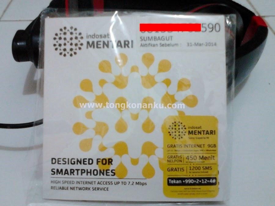 Kartu perdana indosat mentari - Gratis Internet 9GB