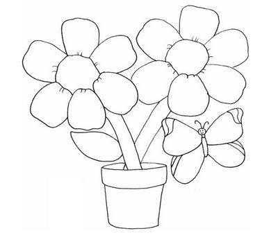 Desenhos para Pintar de girassol Preto e Branco e imprimir