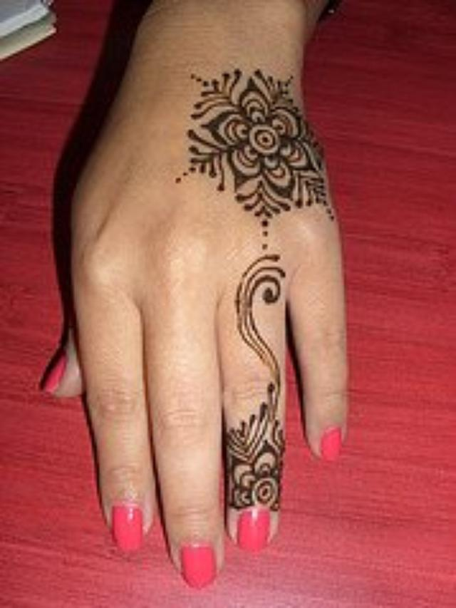 Hand Mehndi Easy Design : Henna mehndi designs for hand feet arabic beginners kids