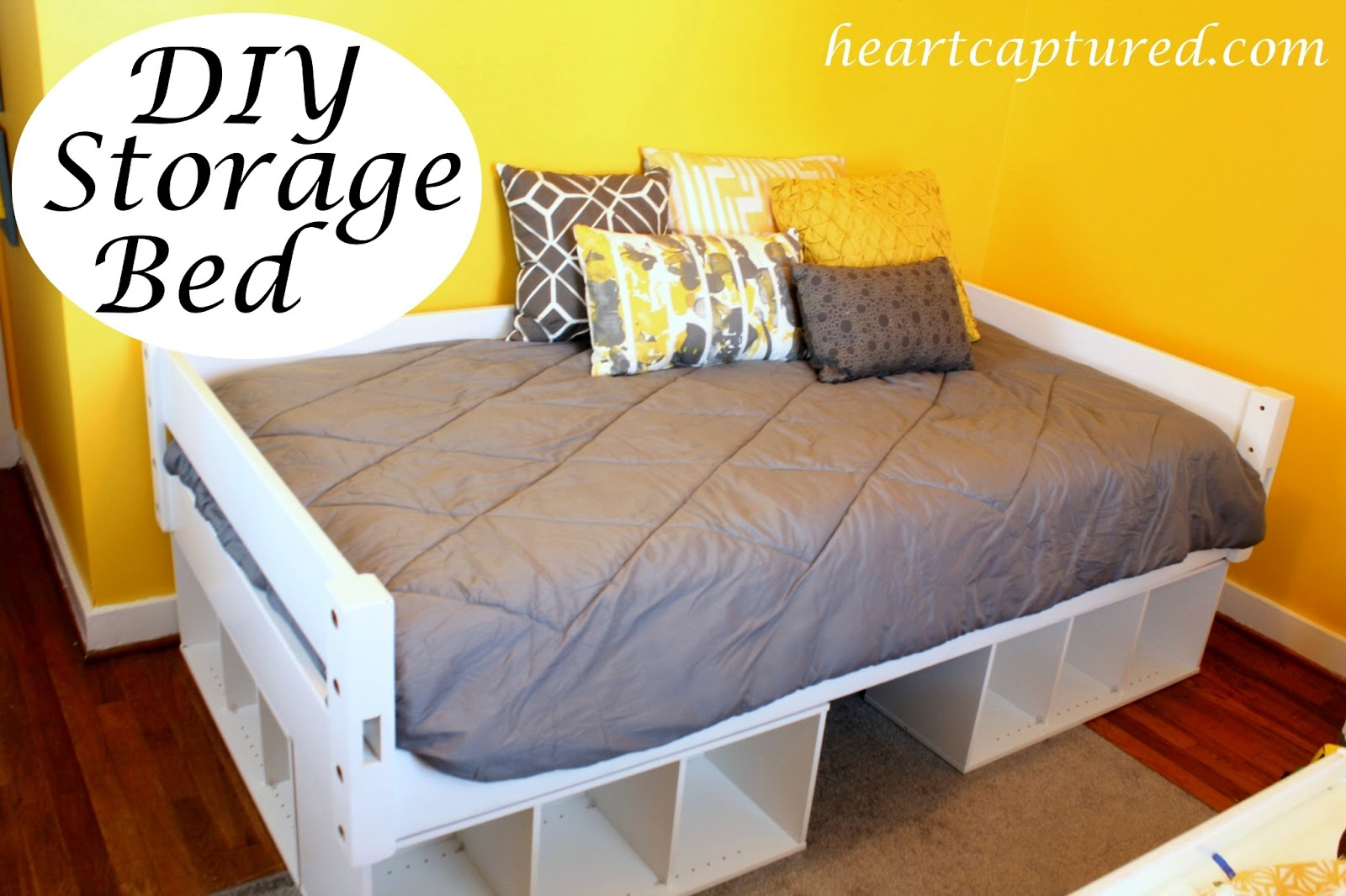 Diy twin platform bed frame - How To Build A Twin Size Platform Bed With Storage Vintage