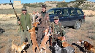 caza del conejo con perro