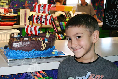 lego pirate ship birthday cake photofrost