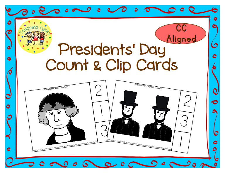 https://www.teacherspayteachers.com/Product/Presidents-Day-Count-Clip-Cards-Common-Core-Aligned-1693744
