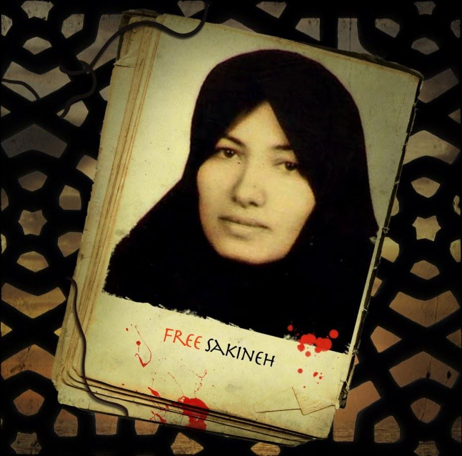 Campaña internacional contra la ejecución (lapidación-ahorcamiento) de Sakineh Ashtiani en Irán.