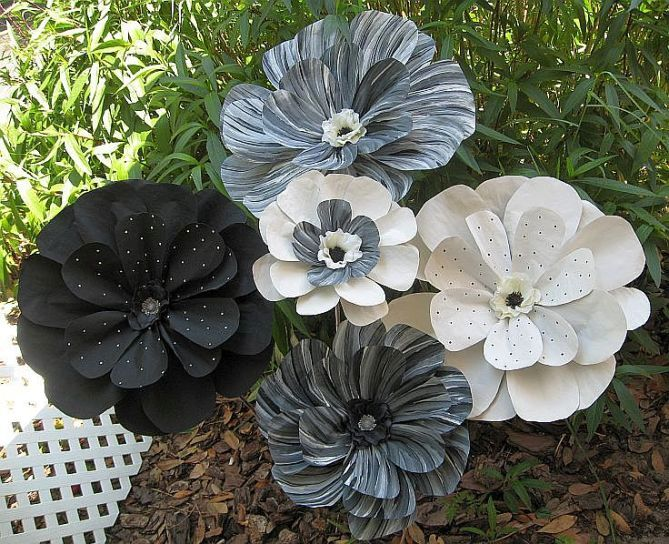 my  painted paper flowers