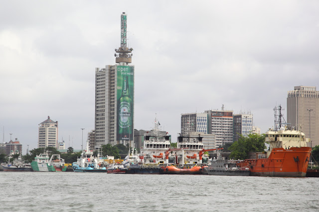 Lagos Island on the harbour