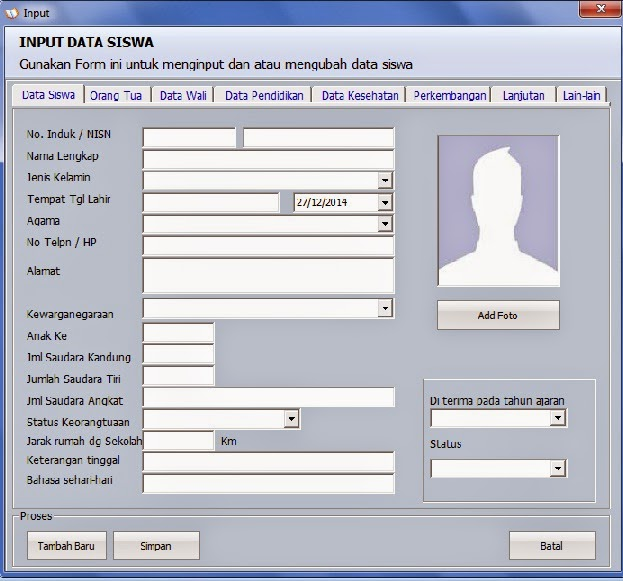 Download Software Database Siswa