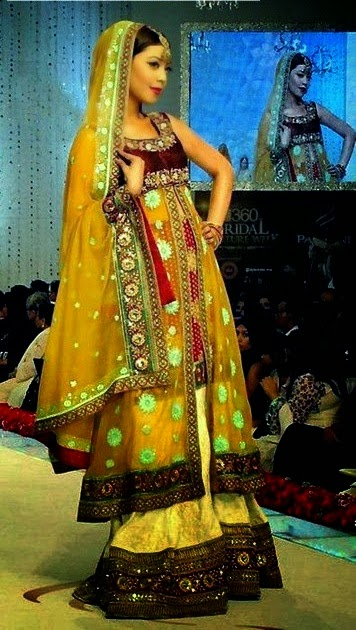Yellow and Green Mehndi Event Suit Collection
