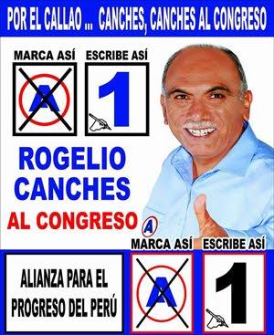 Rogelio Canches, candidato N° 1 por el Callao de ALIANZA PARA EL PROGRESO