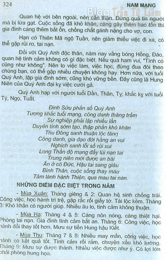 TUỔI ĐINH SỬU 1997 NAM