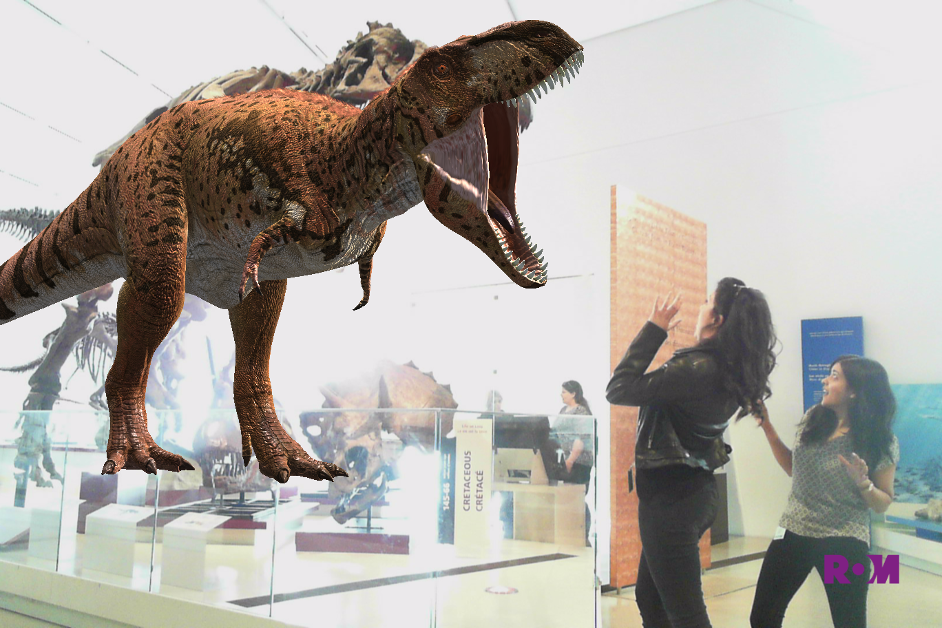 Musings augmented reality in museums dinosaurs Dinosaur museum ohio