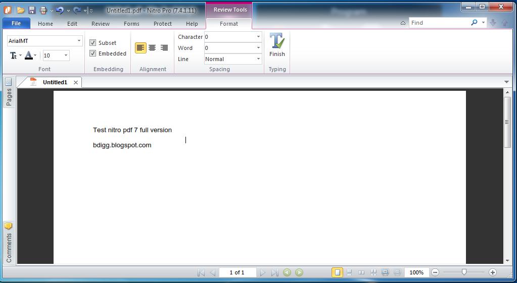 nitro pdf  for windows 7 32 bit with crack