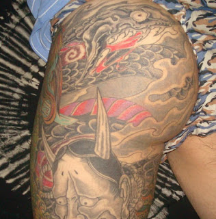 Asian Style Buttocks Tattoo Design