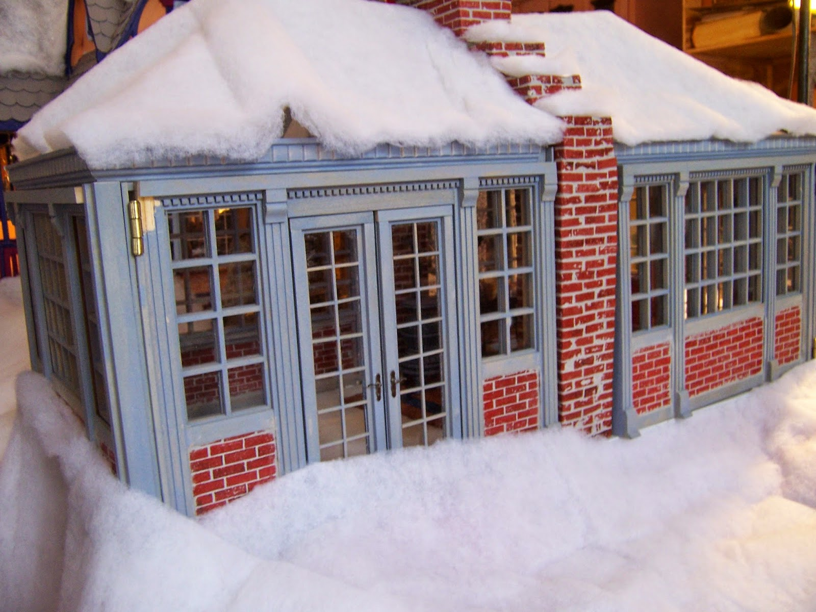 about my doll houses snow day