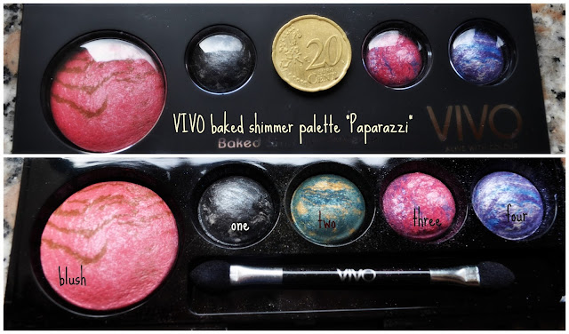 swatches & review vivo baked shimmer palette in paparazzi