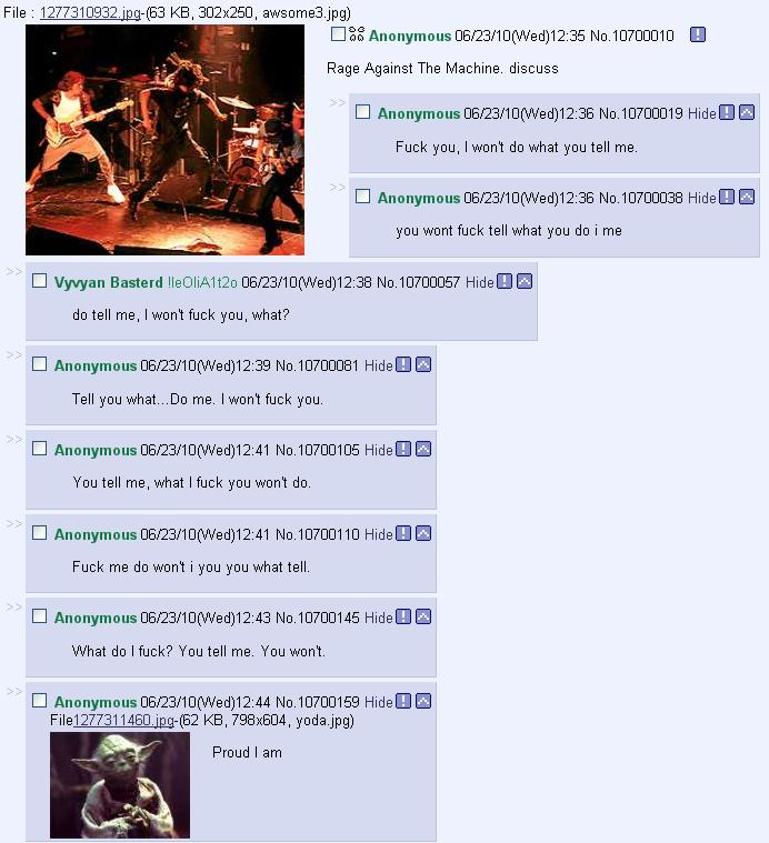 4chan - Rage Against The Machine Discuss