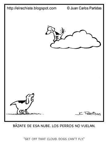 caricatura perro nube