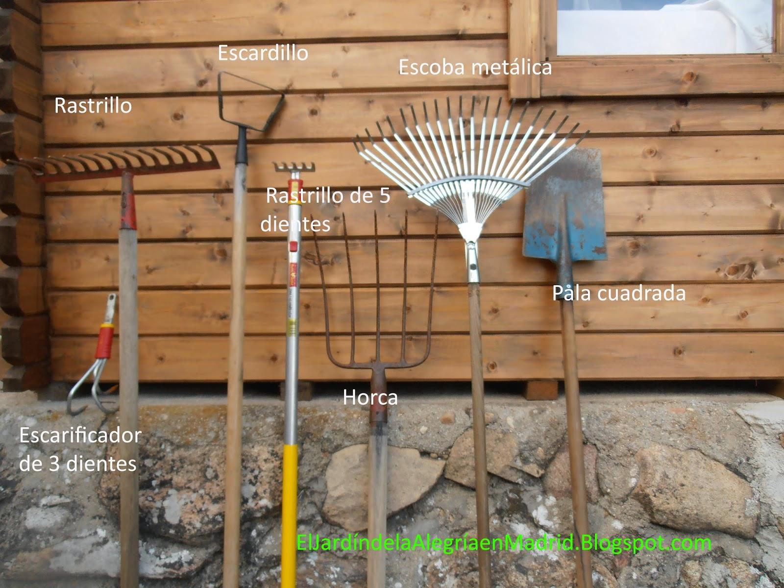 El jard n de la alegr a herramientas de jard n i - Herramientas de jardineria ...