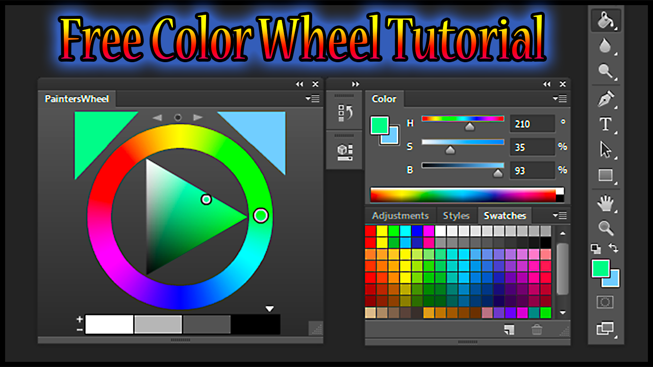 "Screen Capture of Len White's ""Painter's Color Wheel"" for Adobe Photoshop CS 6"