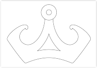crown free hand embroidery pattern
