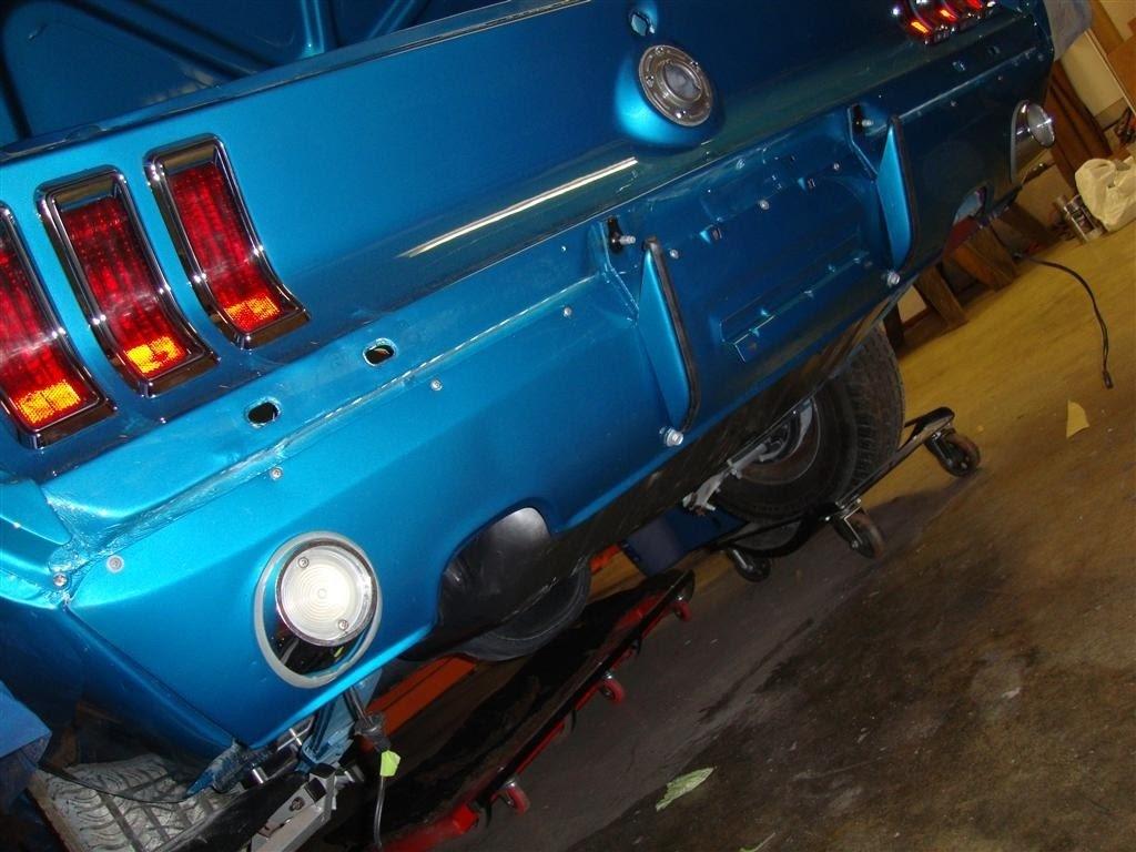 1968 Mustang Convertible Restoration Rear Valance Bumper 66 Wiring Installed Guards