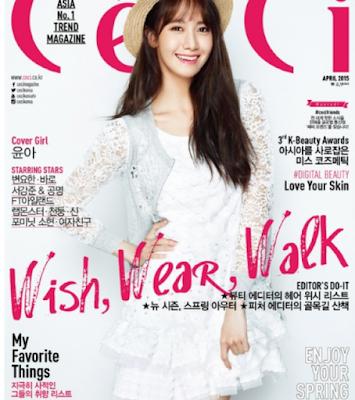 Pose Centil Yoona SNSD di Majalah CeCi