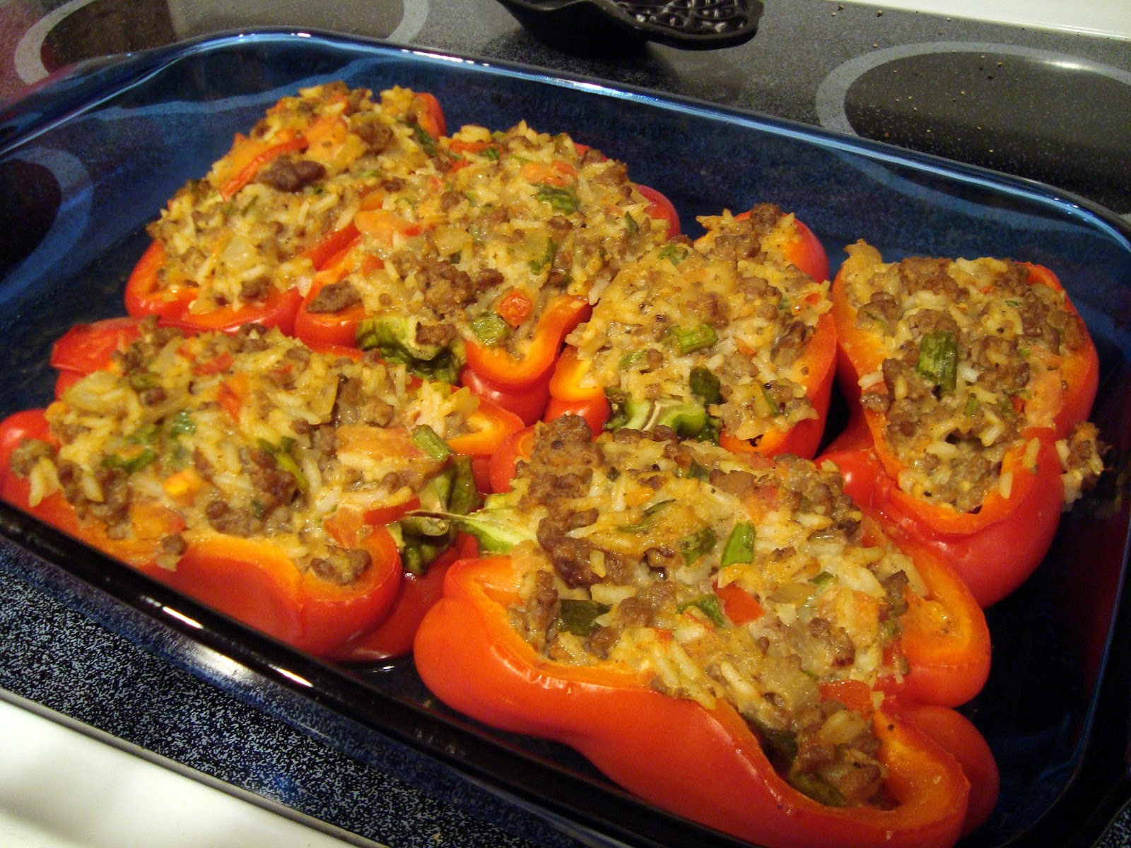Little Cooking: Stuffed Red Peppers