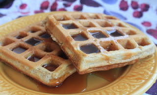 cinnamon spiced waffles