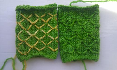 Knitting Quilted Lattice Stitch : Unwinding Slowly
