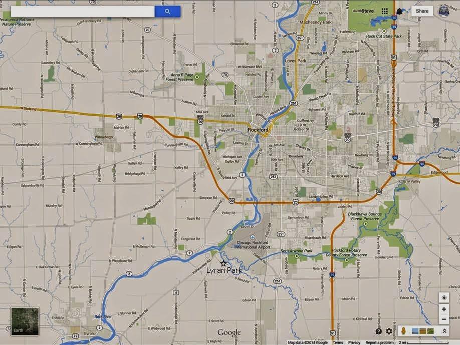 Map to Lyran Park