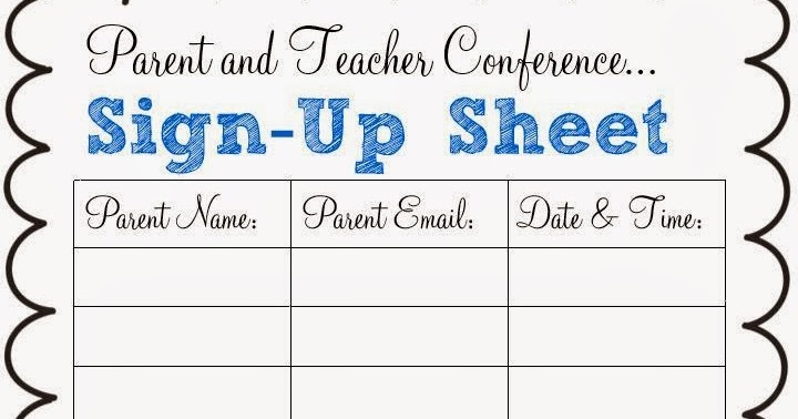 Spark of Inspiration: Parent and Teacher Conference Freebie