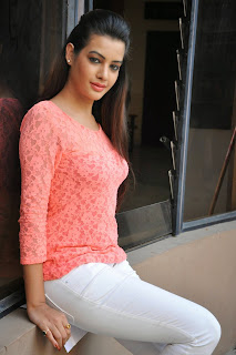 Actress Diksha Panth Latest Pictures in Jeans at Kavvintha Movie Press Meet  7
