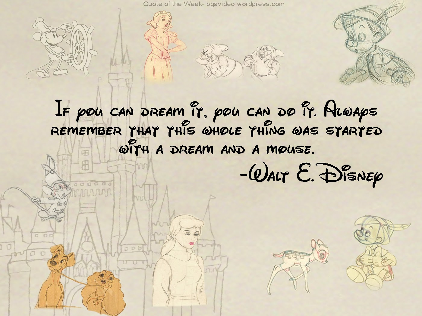 Motivational Wallpaper Dream Walt Disney