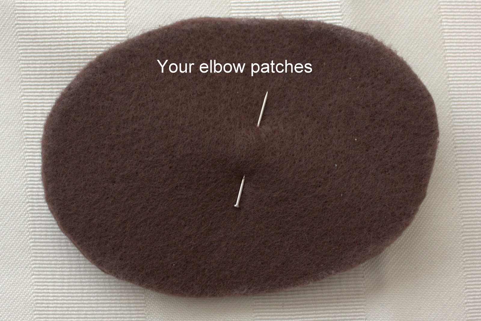 Distractions simple diy elbow patches for Elbow patch template