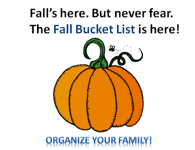 organizing family activities for the fall