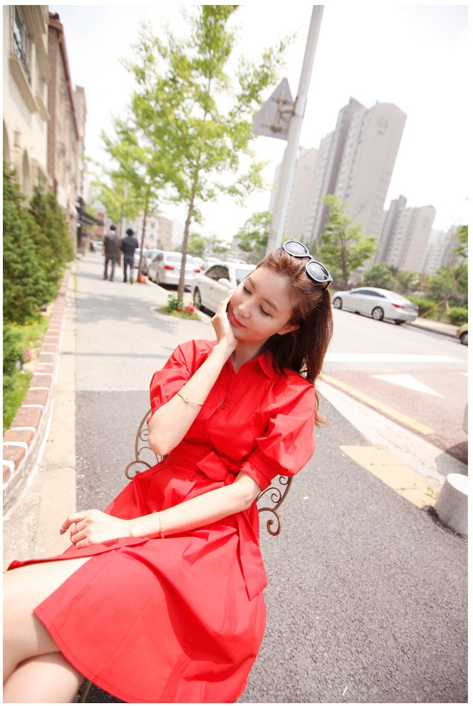 Busana: Dress Merah (BSF-265)