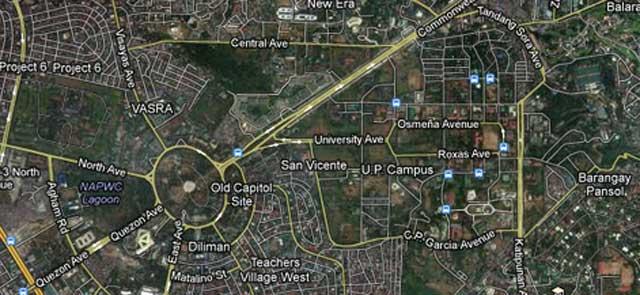 Quezon City Map Satellite - Google map via satellite