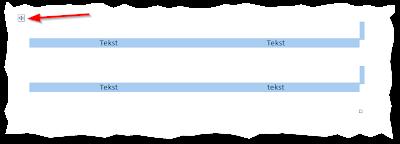 Zaznaczona tabela z wyłączonym obramowaniem
