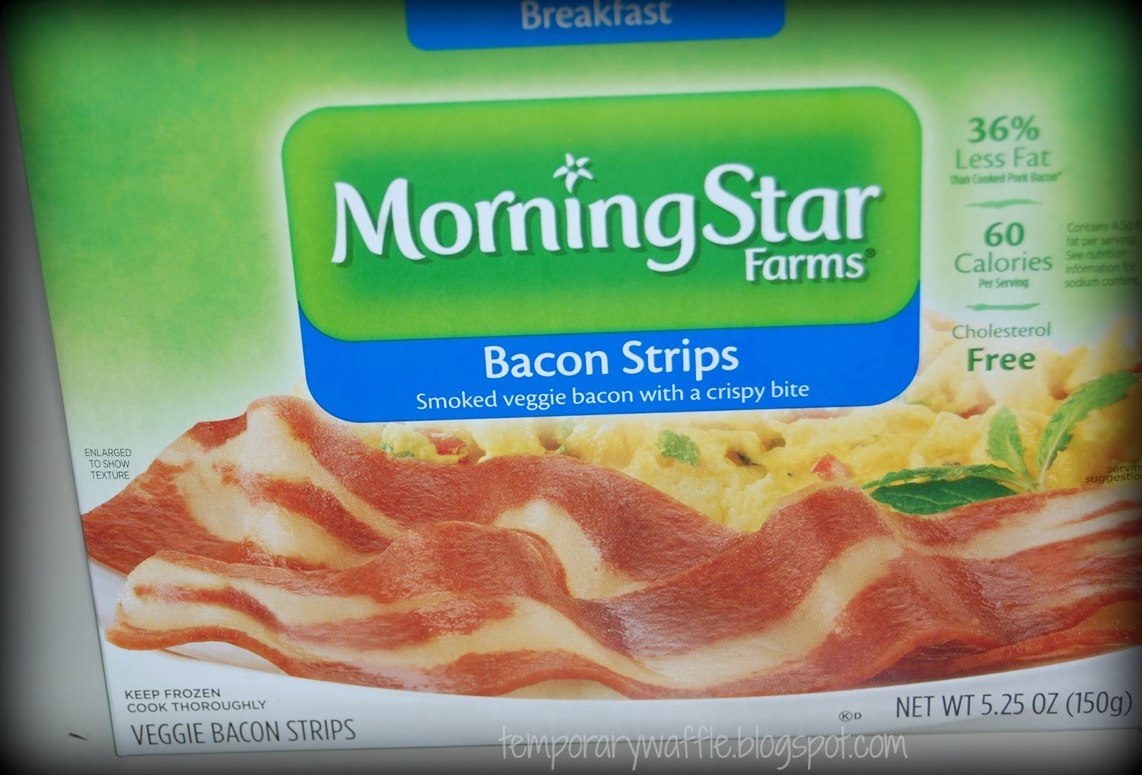temporary waffle morningstar veggie bacon review