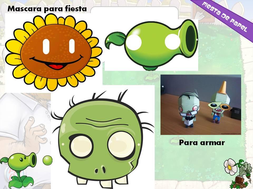 KI-018 Kit Imprimible y Editable Plantas Vs Zombies | Fiesta de papel
